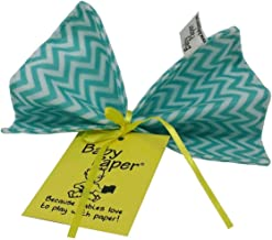 Baby Paper Crinkly Baby Toy, Turquoise Zig Zag