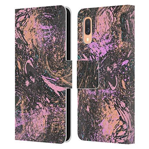 Head Case Designs Licenciado Oficialmente Ninola Polvo de Coral Moderno 2 Carcasa de Cuero Tipo Libro Compatible con Samsung Galaxy A40 (2019)