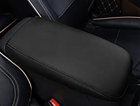 Beerte Car Armrest Box Cover,Fit for Chevrolet Equinox 2018 Accessories Car Armrest Cousion,Auto Central Console Armrest Box Cover(Black with Black Stitches)