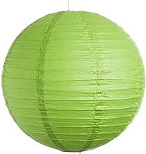 Kala Decorators 10 inch (25 cm* 25cm) Green Hanging Paper Lantern(1 Pc) Paper Ball Lamp Shade for Diwali,Wedding, Party,Decoration