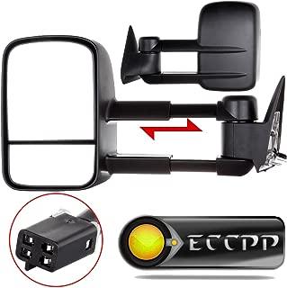 ECCPP Replacement fit for Towing Mirrors Power 88-98 Chevy/GMC C/K1500 88-00 C/K2500 3500 92-99 Suburban C/K1500 2500 Tahoe Yukon Truck/2000 Chevy Tahoe GMC Yukon V8 5.7L