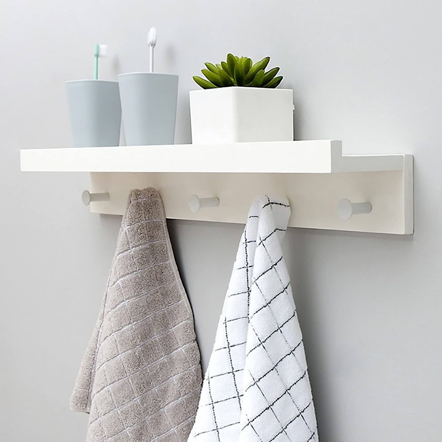 Wall Mounted Coat Rack, Wall-Hung Coat Hooks,Bedroom Living Room Entrance Simple Modern Bamboo System Wall-Mounted Coat Racks. (Size   61.1  8  12cm)