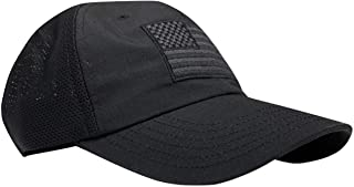 American Flag Range Day Hat, Unstructured with Mesh Back - by Red White Blue Apparel
