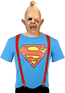 Adults Goonies Sloth Costume Including Mask, Red Braces and Superman T-Shirt