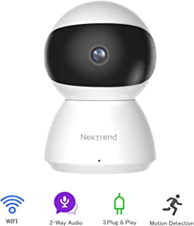 IP Camera, NexTrend Wi-Fi Indoor Dome Camera Pan Tilt Zoom Home Camera with Free APP Motion Detection, Night Vision, Two-Way Audio, Continuous Recording for Baby Pet Nanny
