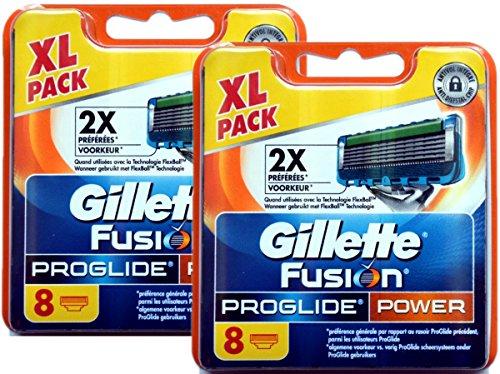 8 | 16 | 32 Klingen Gillette Fusion, Fusion Power, ProGlide oder Proglide Power Rasierklingen (Gillette Fusion Proglide Power, 16 Klingen)