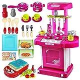 TOOGOO 1 Satz tragbare rosa elektronische Kinder Kinder Kueche Kochen Maedchen Spielzeug Herd Spielset