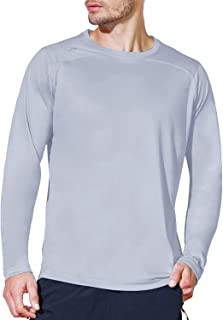Men's UPF 50+ Sun Protection Outdoor Long Sleeve Performance Workout Rash Guard Shirts for Hiking,Runnning,Fishing
