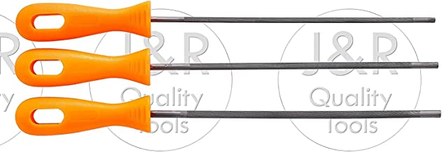3 Piece Chainsaw Chain Saw Chain Sharpening File Rod Set Durable Carbon Steel
