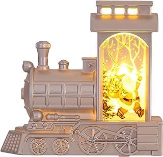 KESYOO Christmas Decorative Lanterns Holiday Lighted Up Train-Shaped LED Night Light Xmas Fireplace Table Decorations