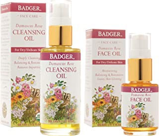 Badger Damascus Rose Cleansing Oil and Face Oil