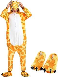 048ae874c2 PIN Unisex Adulto Cosplay Halloween Costume Animale Pigiama Tuta (XL,  Giraffe e