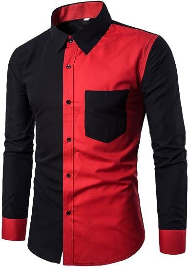 Hombre Camisa de Negocios Carnaval Retro Slim Fit Camisa ...