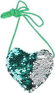 Farmerl Reversible Sequins Backpack For Girls Glitter Mermaid Lightweight Wallet