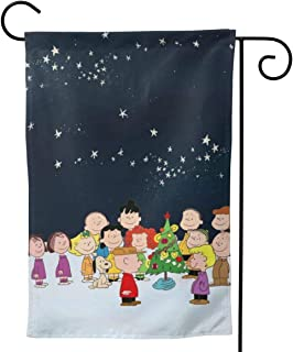 Criss Garden Flag,Christmas Everyone Prepares Gifts for Charlie Brown Double Sided Outdoor Flag House Banner for Yard Home Decor 12.5