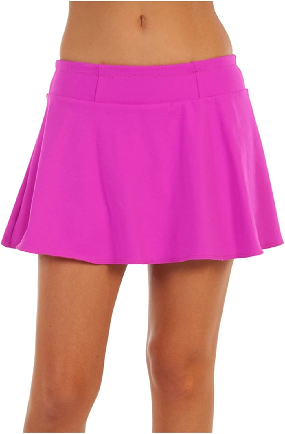 bluee Sky Swimwear Tournament Collection Smash Sport Tennis Skirt in Fuchsia (Size XS) Pink