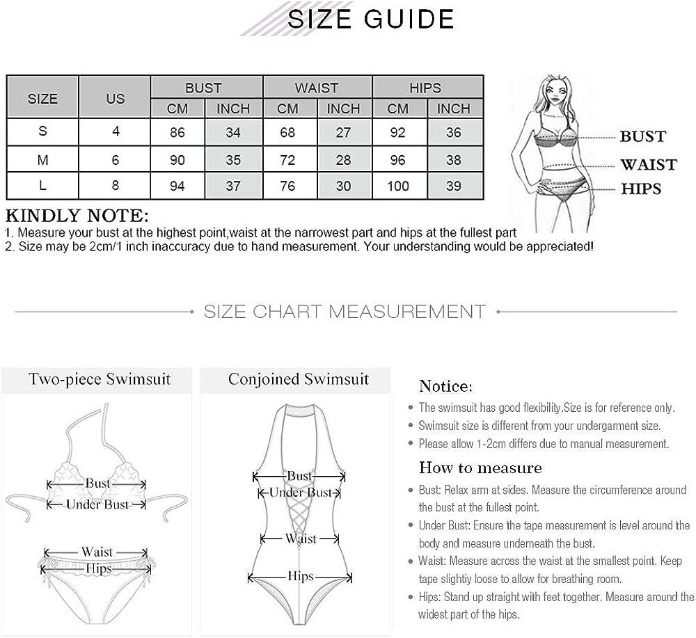 ZAFUL Women Swimsuit V Wired Bathing Suit Floral Tie Reversible Bikini Set