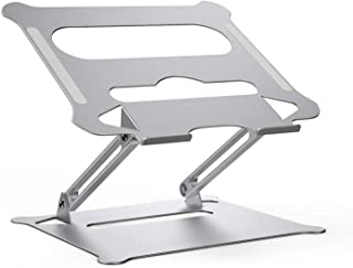 Laptop Stand Adjustable Laptop Riser Ergonomic Notebook Cooling Stand Foldable Aluminum Portable Computer Stand Compatible...