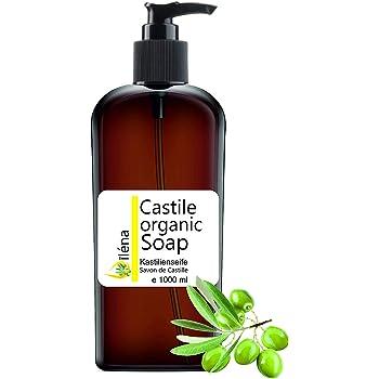 ÚNICO y AUTENTICO JABON DE CASTILLA - ECOLOGICO, a base únicamente de Aceite de Oliva, quita puntos negros, gel limpiador facial y cuerpo, pelo, cocina, ropa. liquido limpiador transparente (1000 ml): Amazon.es: