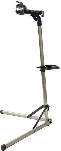 Bikehand Bike Repair Stand (Max 55 lbs) - Home Portable Bicycle Mechanics Workstand - for Mountain Bikes and Road Bik...