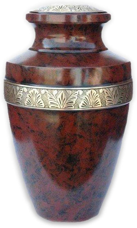 Beautiful Life Urns Hephaestus Adult Cremation Urn - Elegant Brass Funeral Urn (Large)