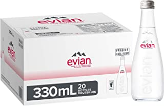 Evian Natural Mineral Water Glass 20 x 330ml