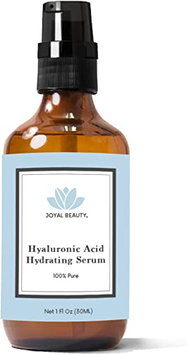 Joyal Beauty 100% Pure Best Highest 4% Hyaluronic Acid Serum for Face Skin Eyes Lips. Anti-aging Hydrating Original Organic Hyaluronan for Topical Use. Daily Deep Dermal Hydration. Ranked Number 1 HA. 1 oz. product image