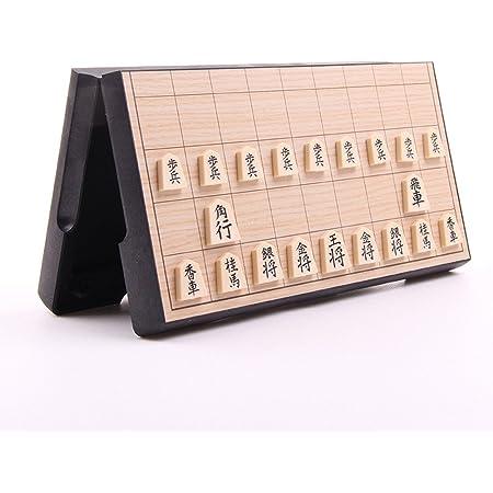 HAOCOO 将棋セット 折りたたみ式 将棋盤 マグネット付き駒 コンパクト 旅行 日本将棋 初心者 こども 大人向け ボードゲーム