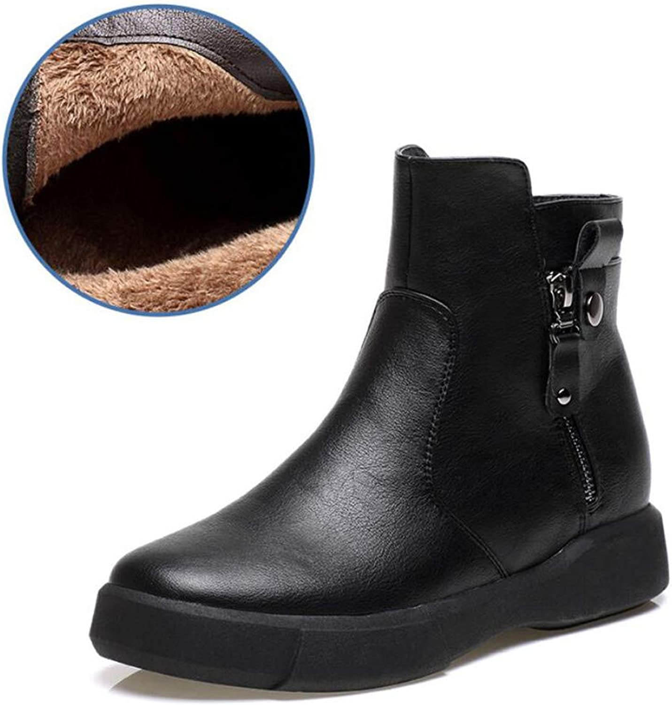 DANDANJIE Women's Martin Boots Winter Retro Flat Boots Student Casual Boots