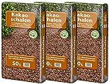 Floragard Kakaoschalen Mulch 3x50 L - zum Mulchen von Pflanzflächen