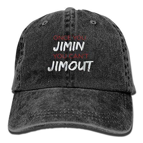 Once You Jimin You Can't Jimout 5 Adult Adjustable Printing Cowboy Baseball Hat Black