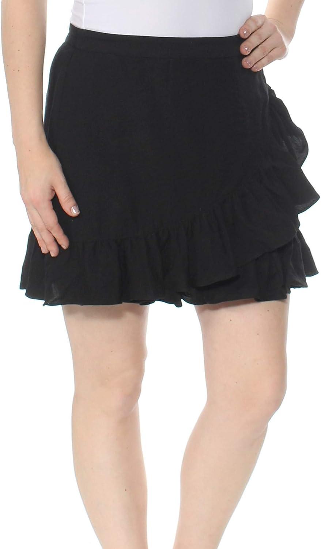 1.STATE Womens Ruffled Above Knee Mini Skirt
