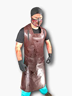 Rubber Johnnies Mad Butcher Apron Set, Adult One Size, Bloody Mask, Rubber Gloves