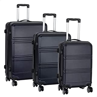 JB Luggage Trolley Travel Bags Set, 3 Pieces - Navy