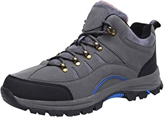Hzjundasi Women's Men's Hiking Boots, Breathable High Rise Non-Slip Climbing Shoes, Warm Lined Boots Footwear for Walking, Travelling, Backpacking, Camping, Trekking, Biking