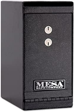 Mesa Safe Company Model MUC1K Undercounter Depository Safe with Dual Key Lock, Dark Gray