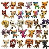 Deevay Pequeños defectos tienda de mascotas juguetes gato gatito cachorro figura rara pie corto mini figuras de acción juguetes pequeños para mascotas 10/20 piezas (35 piezas al azar única)