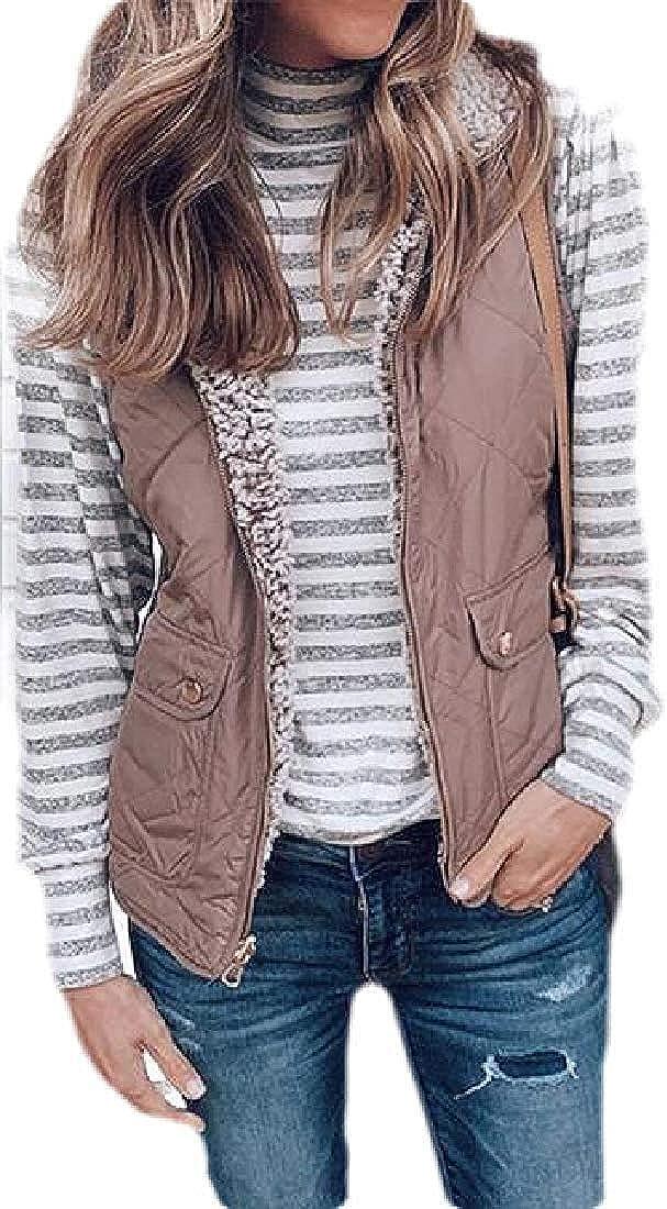 andrea scott Women's Reversible Sleeveless Quilted Winter Vest Jackets