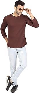 Nimble Men Tshirts| Regular Plain Tshirts for Men | Solid Tee Round Neck for Men | Slim Fit Casual Tshirts | Men's Plain T...