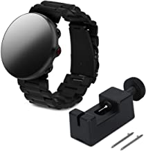 kwmobile Watch Strap for Polar Vantage M - Smart Watch Replacement Watch Strap of Stainless Steel in Black - with Folding Clasp - Inner Dimensions: Approx.