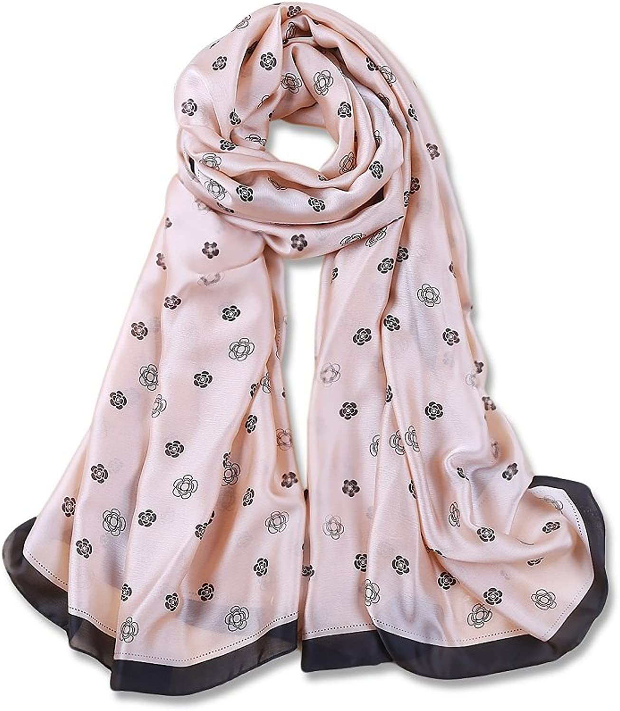 Women's Scarf Fashion Long Size Print Silk Feeling Scarves Soft Shawls And Wraps