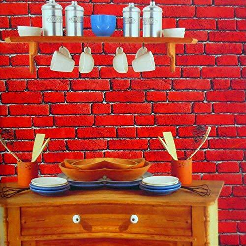 Behang rode stenen tegels vliesbehang strepen moderne Home Style vliesbehang wandbehang decoratie 10M Unitbehang voor woonkamer slaapkamer kantoor