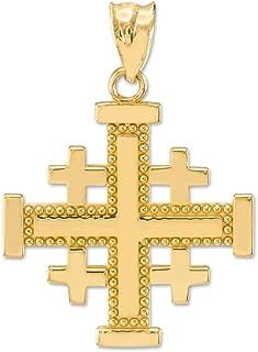 jerusalem cross pendant gold