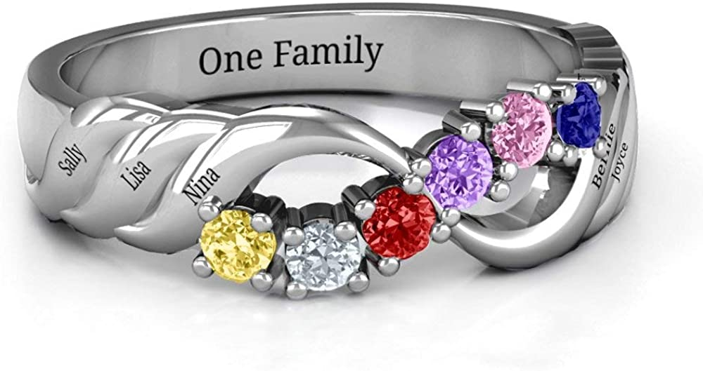 NEW before selling ☆ Custom Mother Rings for Women 6 An Baltimore Mall Personalized with Birthstones