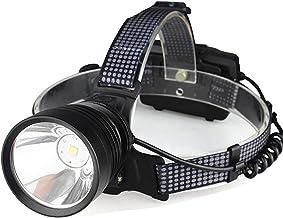 JSJJAUJ Hoofd Zaklamp USB Oplaadbare LED koplamp Met Ingebouwde Koelventilator Koplamp Gebruik 3 * 18650 Oplaadbare Batter...