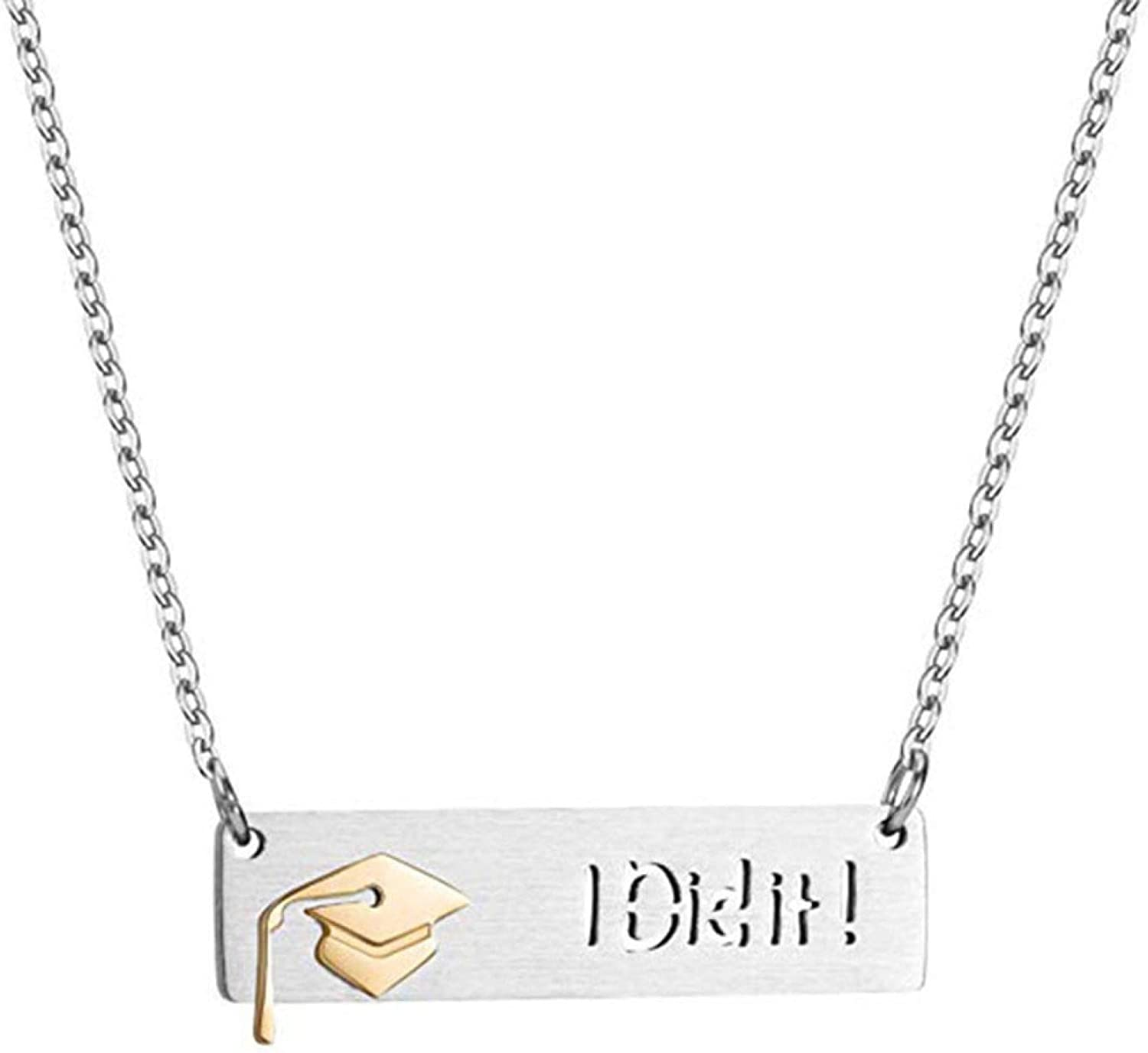 Unisex Stainless Steel Genuine Graduation Cap I Max 47% OFF Chain Neck Dit Dangle It