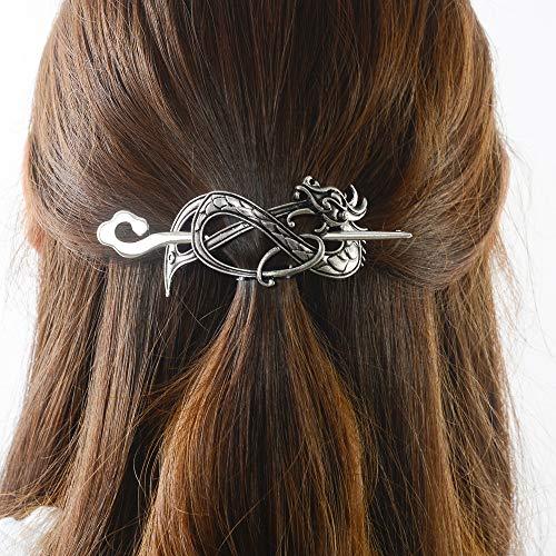 Viking Celtic Hair Sticks Hairpin-Viking Hair Clip Sticks for Long Hair Stick Slide Irish Hair Accessories (N-B1)