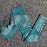 Orange L Seamless Yoga Set Fitness Clothing Sportswear High Waist Women Gym Leggings Tights Padded Push-up Sports Bra 2 Pcs Sports Suits