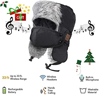 bomber hat with bluetooth