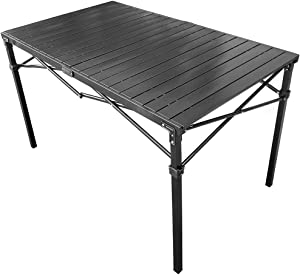 GoTEAM! Portable Heavy Duty Aluminum Roll-Top Table (Large)